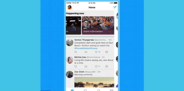 Twitter agrega actualización dedicada al tema de los deportes