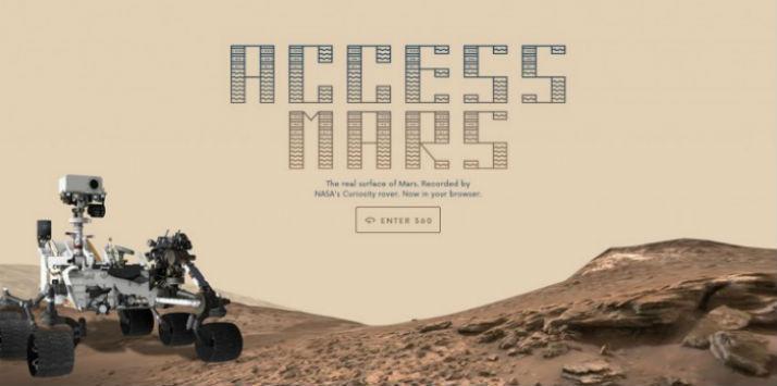 Explora  Marte con esta página creada por Google