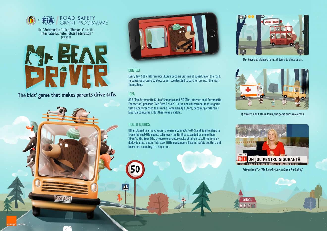 Un juego para niños que hace conducir a los padres de forma segura