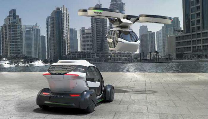 El coche-drone es la propuesta para controlar los atascos vehiculares