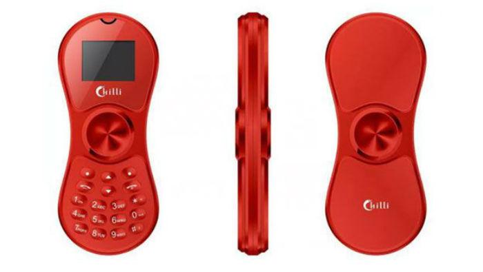 El Chilli K188 es el teléfono móvil que se convierte en spinner