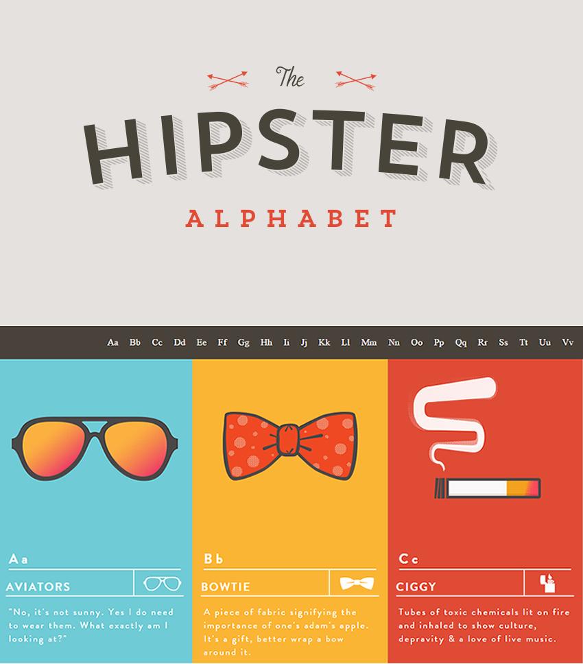 Alfabeto hipster, lo que necesitas saber para entender su lenguaje