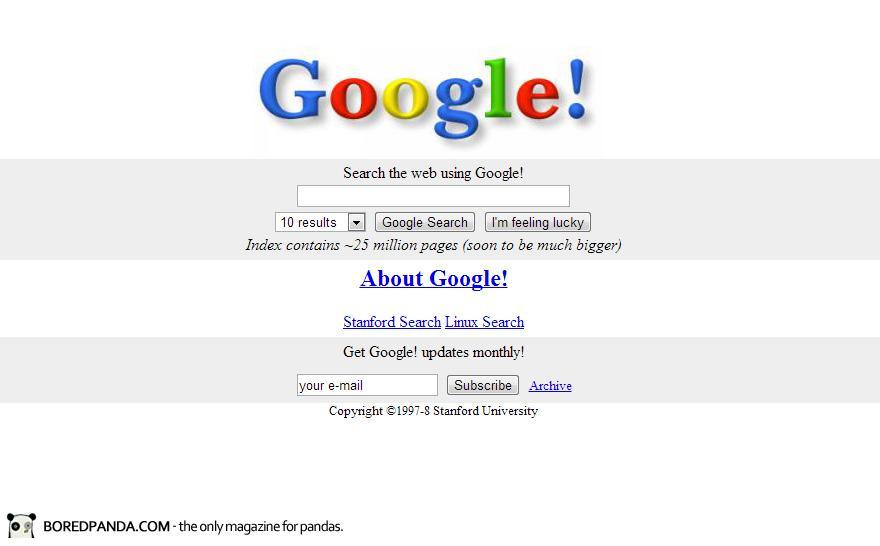 Así eran los gigantes de la Internet en sus inicios