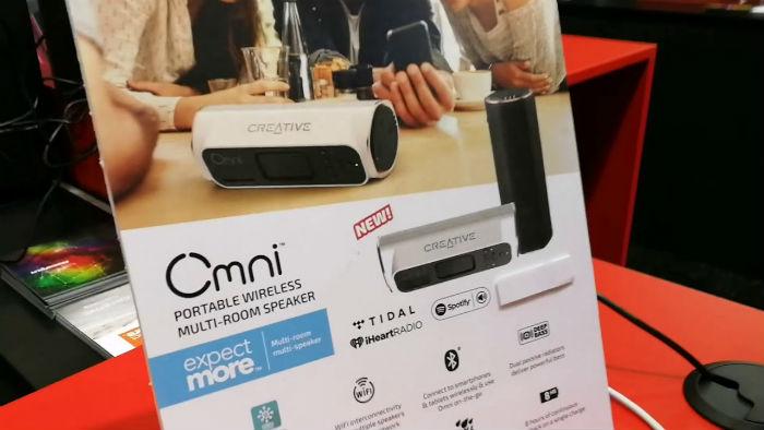 El speaker Creative Omni es portátil y se conecta con Wi-Fi