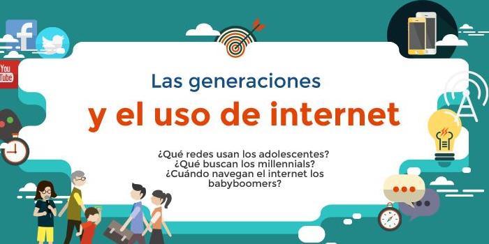 Así es el comportamiento de las generaciones en Internet