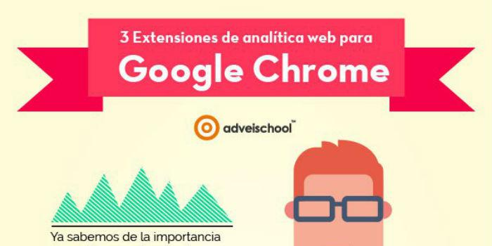 Tres extensiones de analítica web para Google Chrome