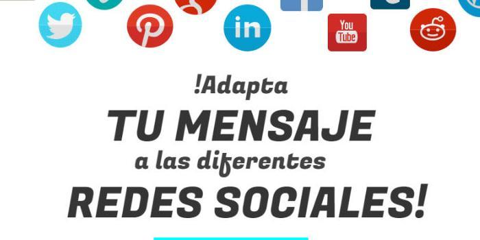 Adapta tu Mensaje a las diferentes Redes Sociales