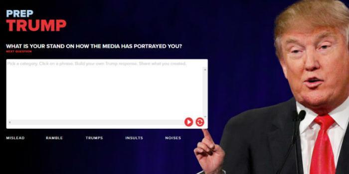 Responde preguntas al estilo Donald Trump utilizando este sitio web