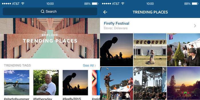 Instagram se actualiza con nuevas opciones de búsqueda y diseño web