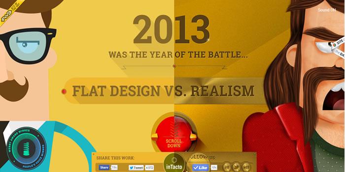 12 ejemplos increíbles de páginas web con animación y flat design