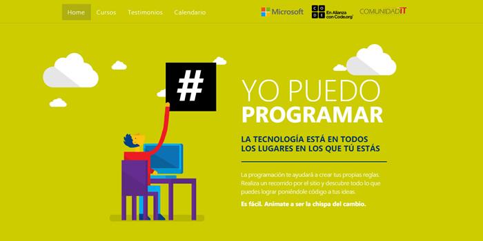 Yo puedo programar - Curso virtual de Microsoft